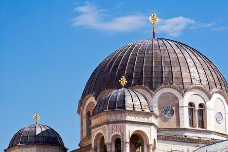 trieste: Detail of Serbian-Orthodox church of St.Spiridione in Trieste (Italy)