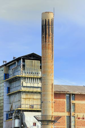 tall chimney: Detail of factory with tall chimney