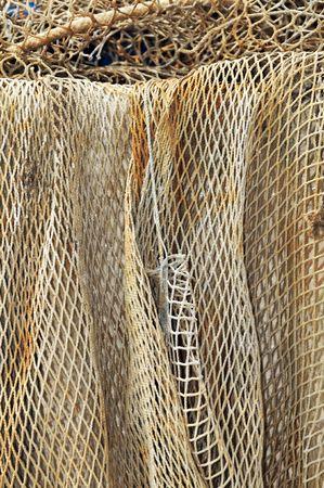 redes pesca: Primer plano de una red de pesca  Foto de archivo