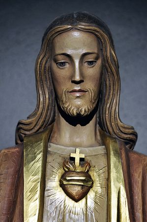 Painted wooden statue of Jesus Christ