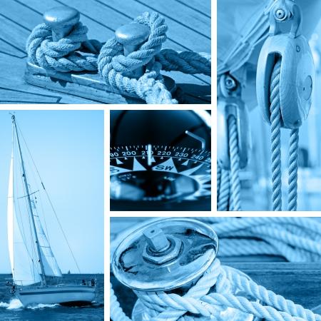 deportes nauticos: Barcos y yates conceptos - azul entonado Foto de archivo
