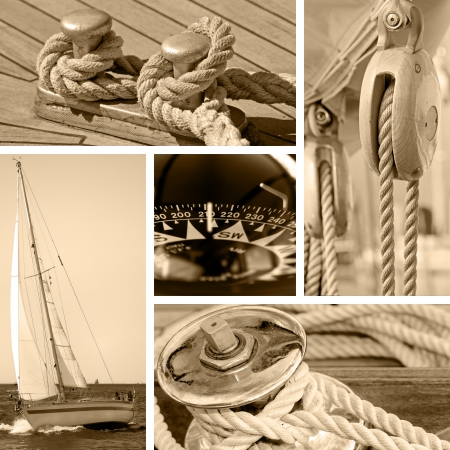Boats and yachts concepts - sepia toned