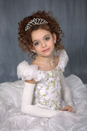 Pretty little girl posing for portrait photo