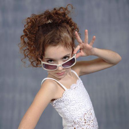 Pretty little girl posing for portrait Stock Photo - 868554