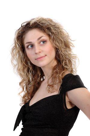 Blonde girl with blue eyes. Portrait on white background Stock Photo - 864816