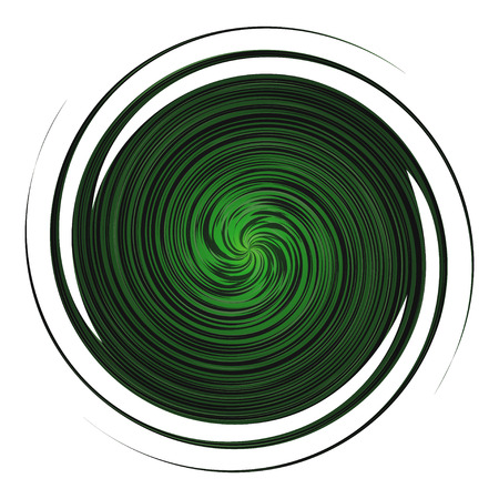 twisted: Twisted green circle in  a spiral