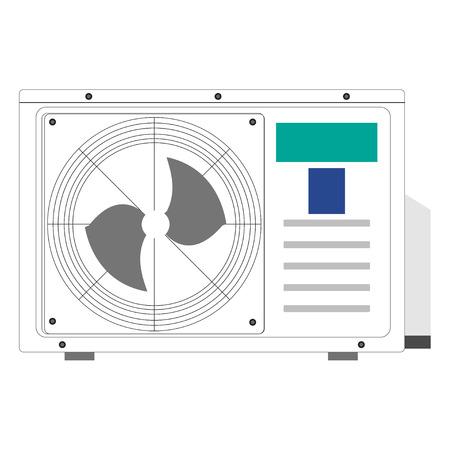 air conditioner: Vector realistic air conditioner.  Screw