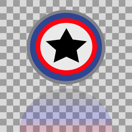 the americas: Colorful Captain Americas shield  with shadow