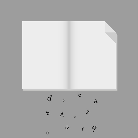 crumbling: Book  with crumbling letters