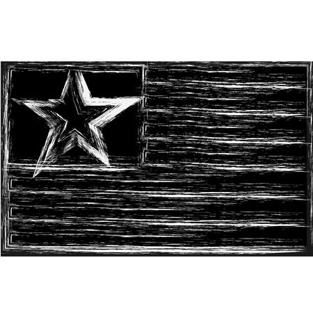 ny: American flag on one of the original  star