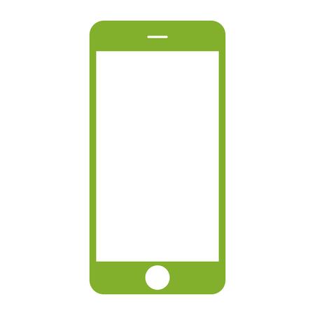 Green  phone Illustration