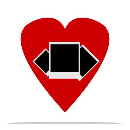 st  valentine's: St. Valentines Day.  In the heart Polaroid