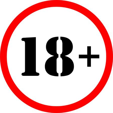 eighteen: Icon eighteen  plus