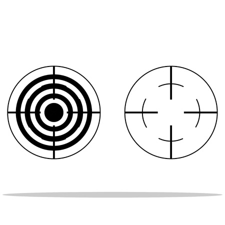 targets: Two targets with  shadow