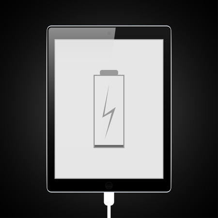 rechargeable: The tablet  is charging