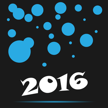 blue circles: Background  with blue circles new year 2016 Illustration