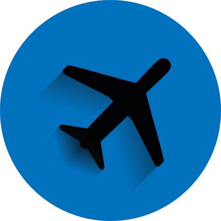 Icon flying  plane
