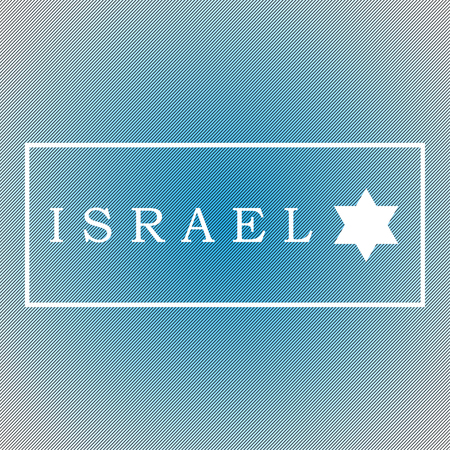 whiteblue: Caption Israel  in a frame on a white-blue background