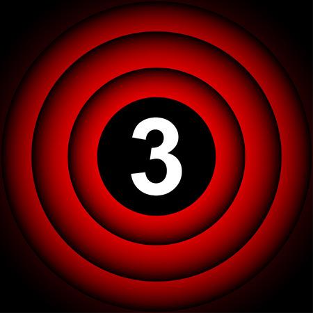 countdown: Start movie one,  two, three Illustration