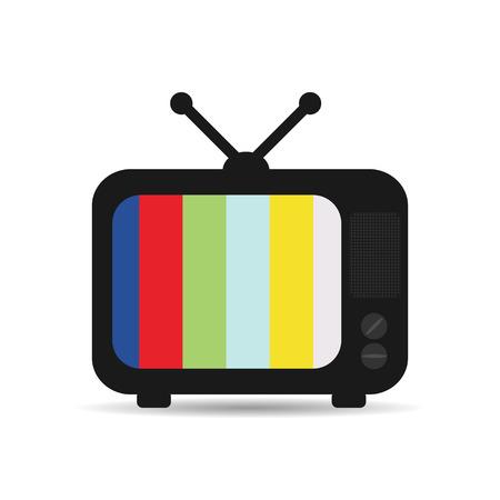 retro tv: Retro TV with  shadow