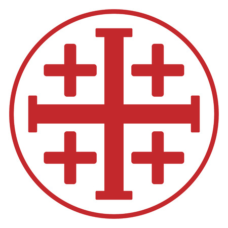 Jerusalem  cross Иллюстрация