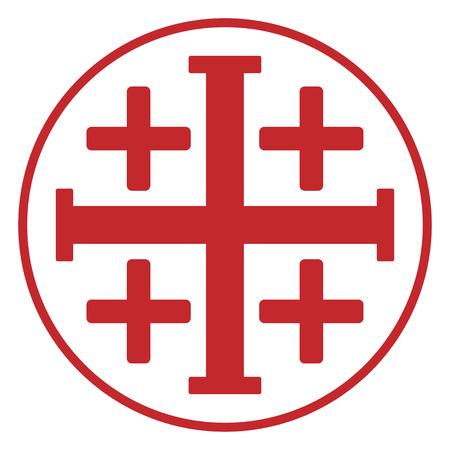 Jerusalem  cross Illustration