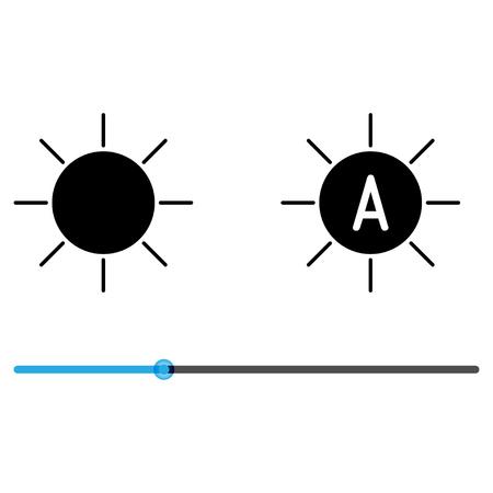 backlight: Icons backlight  adjustment Illustration