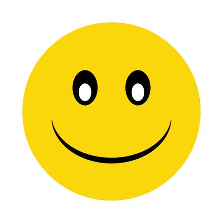 smiley pouce: smiley jaune heureux avec l'ombre