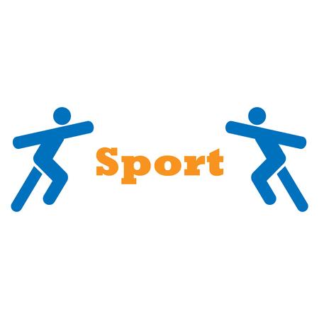 logotype: Logotype  two sportsmen Illustration