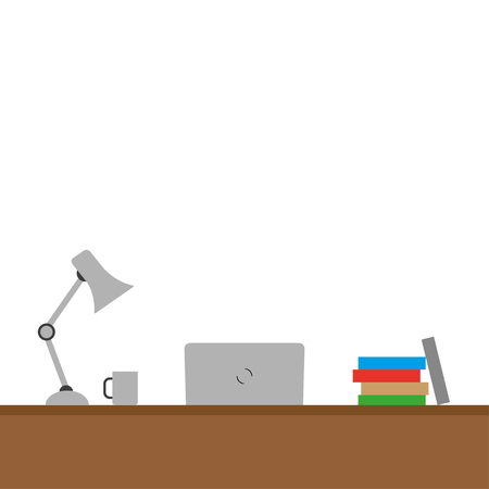 objects: Desktop  with different objects