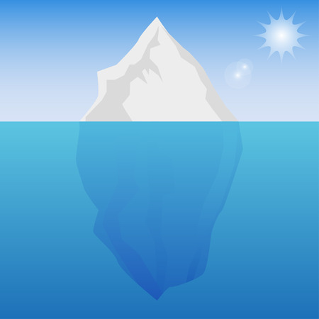 iceberg: Iceberg background  with sun