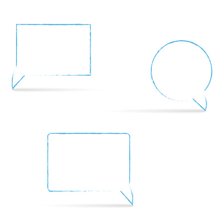 short message service: Message box  with shadows