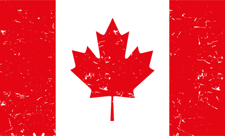 canadian flag: Light Canadian flag  with texture