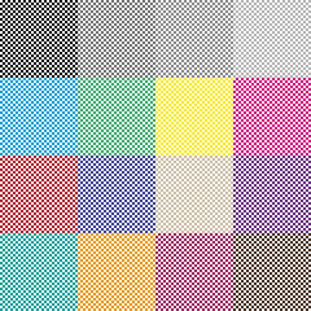 Big Set Green and White  Checkered background Illustration