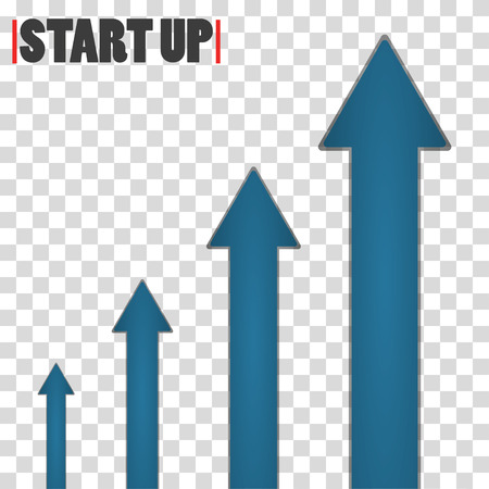 going up: Trend with arrow going up. Blue arrows on checkered background.  Growing graph icon