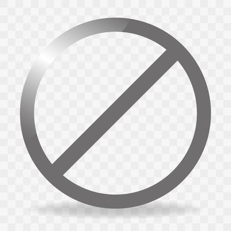 ban sign: Blank ban. Sign ban.  Gray circle with shadow ban