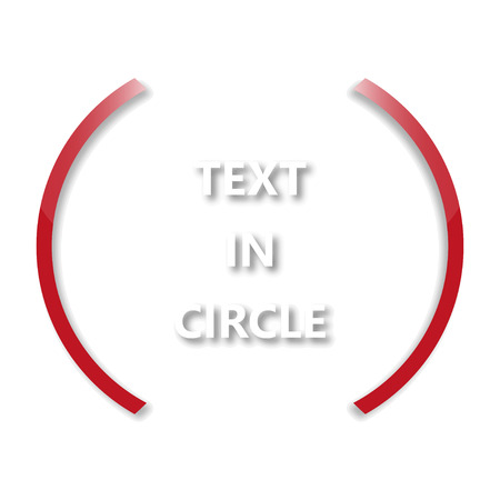 red circle: Red circle  with text Illustration