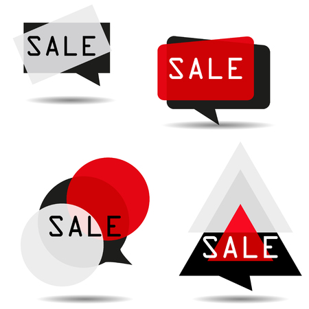 labeling: Square, rectangle, circle and triangle.  Windows labeling. Sale frame