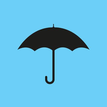Umbrella flat icon isolated  on a blue background Illustration