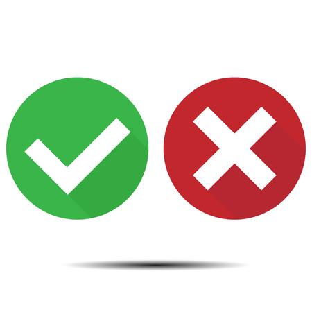 Modern Check Mark Icons On White Background