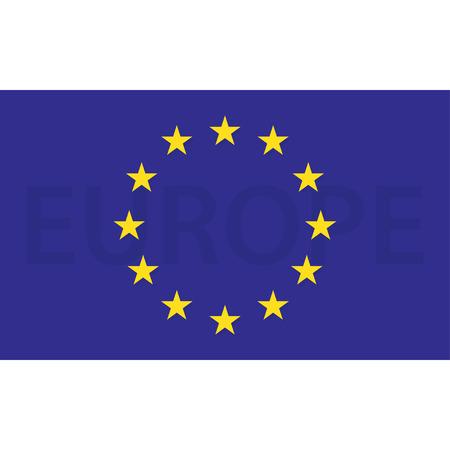 european economic community: European union flag. Flag of Europe with shadow