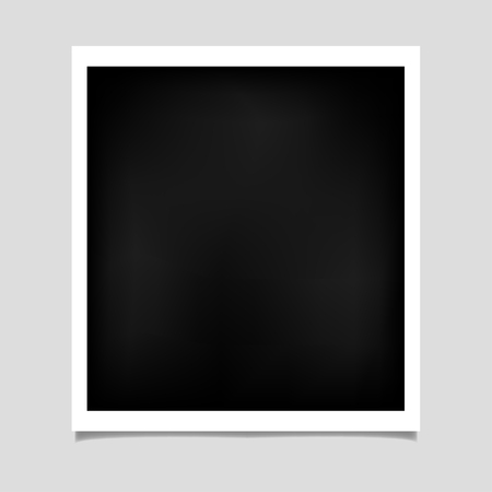 polariod: Photo frame with shadow on isolate background, vector EPS10 Illustration