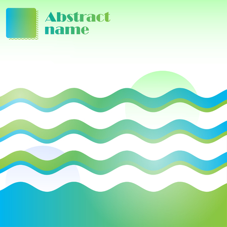 Abstract background green, blue and white colors