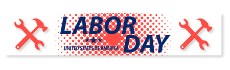 United state of America Labor Day poster design Illustration