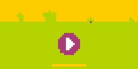 Activo de juego de plataformas de 8 bits en pixel art. Juega fondo retro pixel.