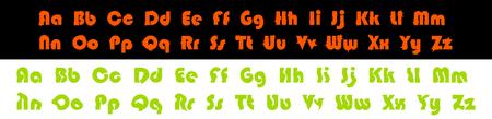 Decorative  alphabet vector font. Illustration