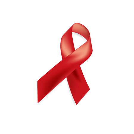 Aids Awareness. World Aids Day concept. Red Ribbon. Vector illustration EPS10 Illustration