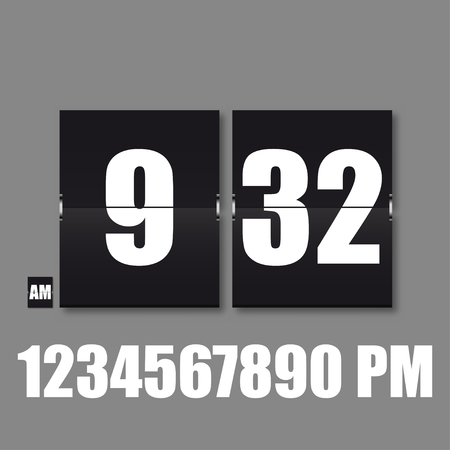 Flip Countdown timer. Flat vector business sign