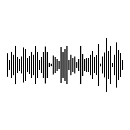 Sound waves and audio waves. Illustration
