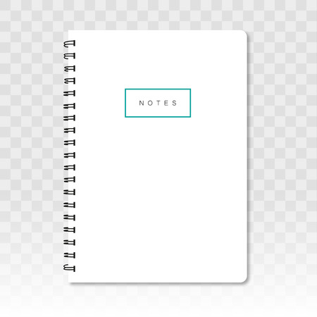 Blank notebook with shadow on a transparent background 矢量图像